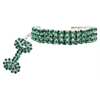 Mirage Pet Products Glamour Bits Pet Jewelry Emerald M (8-10)