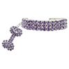 Mirage Pet Products Glamour Bits Pet Jewelry Purple M (8-10)