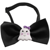 Mirage Pet Products Girly Ghost Chipper Black Bow Tie