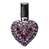 Mirage Pet Products Heart Clip Purple