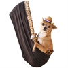 Mirage Pet Products Skull with Rose Rhinestone Puppy Holdem Sling Brown w/ Cheetah trim Size Sm/Md