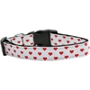 Mirage Pet Products White and Red Dotty Hearts Nylon Dog Collars Medium