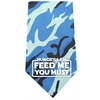 Mirage Pet Products Hungry I Am Screen Print Bandana Blue Camo