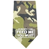 Mirage Pet Products Hungry I Am Screen Print Bandana Green Camo