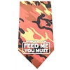 Mirage Pet Products Hungry I Am Screen Print Bandana Orange Camo