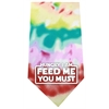 Mirage Pet Products Hungry I Am Screen Print Bandana Tie Dye