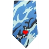 Mirage Pet Products I Love Daddy Screen Print Bandana Blue Camo