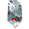 Mirage Pet Products I Love Daddy Screen Print Bandana Grey Camo