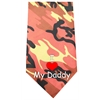 Mirage Pet Products I Love Daddy Screen Print Bandana Orange Camo