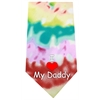 Mirage Pet Products I Love Daddy Screen Print Bandana Tie Dye