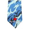 Mirage Pet Products I Love Mommy Screen Print Bandana Blue Camo