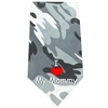 Mirage Pet Products I Love Mommy Screen Print Bandana Grey Camo
