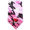 Mirage Pet Products I Love Mommy Screen Print Bandana Pink Camo