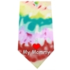 Mirage Pet Products I Love Mommy Screen Print Bandana Tie Dye