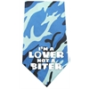 Mirage Pet Products Lover not a Biter Screen Print Bandana Blue Camo