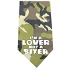 Mirage Pet Products Love not a Biter Screen Print Bandana Green Camo
