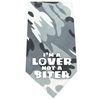 Mirage Pet Products Love not a Biter Screen Print Bandana Grey Camo