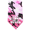 Mirage Pet Products Love not a Biter Screen Print Bandana Pink Camo