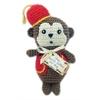 Mirage Pet Products Knit Knack Fez Monkey Organic Cotton Small Dog Toy