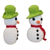 Mirage Pet Products Holiday Knit Knack Frost The Snowman Organic Small Dog Toy