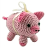 Mirage Pet Products Knit Knacks Piggy Boo Organic Cotton Small Dog Toy