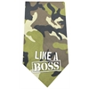 Mirage Pet Products Like a Boss Screen Print Bandana Green Camo
