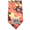 Mirage Pet Products Like a Boss Screen Print Bandana Orange Camo