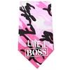 Mirage Pet Products Like a Boss Screen Print Bandana Pink Camo