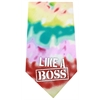 Mirage Pet Products Like a Boss Screen Print Bandana Tie Dye