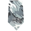 Mirage Pet Products Like my Costume Screen Print Bandana Grey Camo