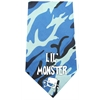 Mirage Pet Products Lil Monster Screen Print Bandana Blue Camo