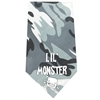 Mirage Pet Products Lil Monster Screen Print Bandana Grey Camo