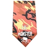 Mirage Pet Products Lil Monster Screen Print Bandana Orange Camo