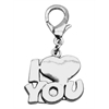 Mirage Pet Products Chrome Lobster Claw Charm I Love You