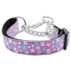 Mirage Pet Products Butterfly Nylon Ribbon Collar Martingale Lavender Medium