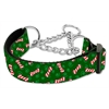 Mirage Pet Products Candy Cane Bones Nylon Ribbon Collar Martingale Medium