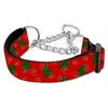 Mirage Pet Products Christmas Tree Nylon Ribbon Collar Martingale Medium