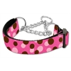 Mirage Pet Products Confetti Dots Nylon Collar Martingale Bright Pink Large