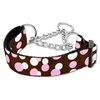 Mirage Pet Products Confetti Dots Nylon Collar Martingale Chocolate Medium