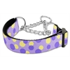Mirage Pet Products Confetti Dots Nylon Collar Martingale Lavender Medium