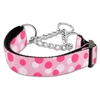 Mirage Pet Products Confetti Dots Nylon Collar Martingale Light Pink Medium