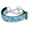 Mirage Pet Products Cupcakes Nylon Ribbon Collar Martingale Medium Baby Blue