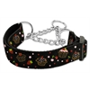 Mirage Pet Products Cupcakes Nylon Ribbon Collar Martingale Large Black