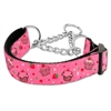 Mirage Pet Products Cupcakes Nylon Ribbon Collar Martingale Medium Bright Pink