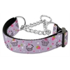 Mirage Pet Products Cupcakes Nylon Ribbon Collar Martingale Medium Purple