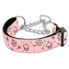 Mirage Pet Products Cupcakes Nylon Ribbon Collar Martingale Medium Light Pink
