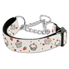 Mirage Pet Products Cupcakes Nylon Ribbon Collar Martingale Large White