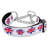Mirage Pet Products Graffiti Union Jack(UK Flag) Nylon Ribbon Collar Martingale Medium