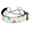 Mirage Pet Products Lollipops Nylon Ribbon Collar Martingale Medium White