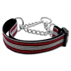 Mirage Pet Products Preppy Stripes Nylon Ribbon Collars Martingale Red/White Large